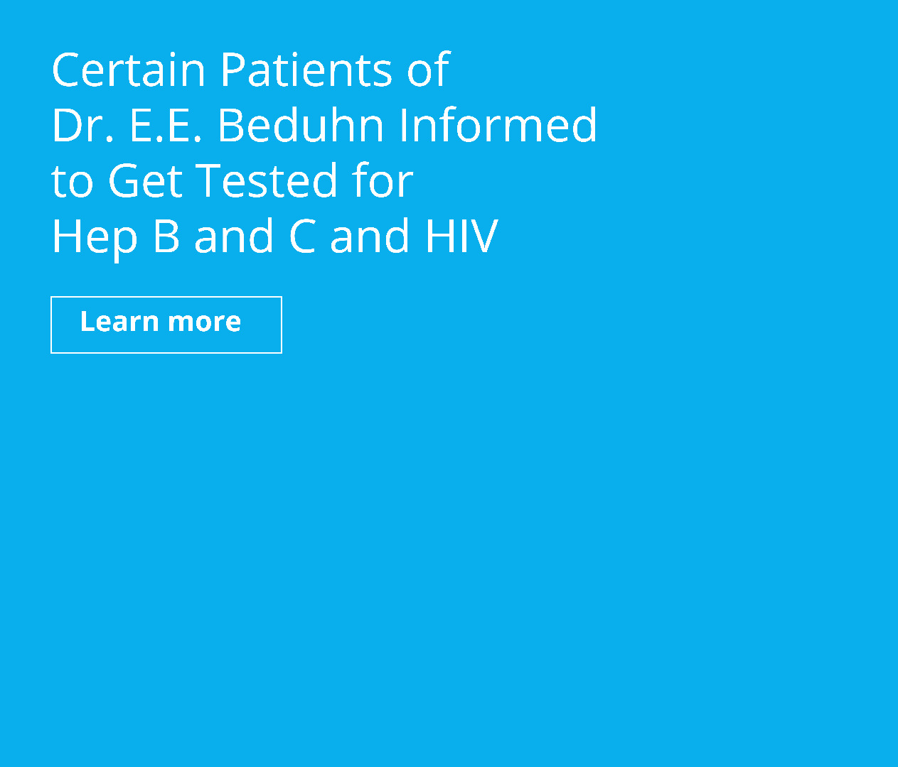 Get Tested for Hep B and C and HIV
