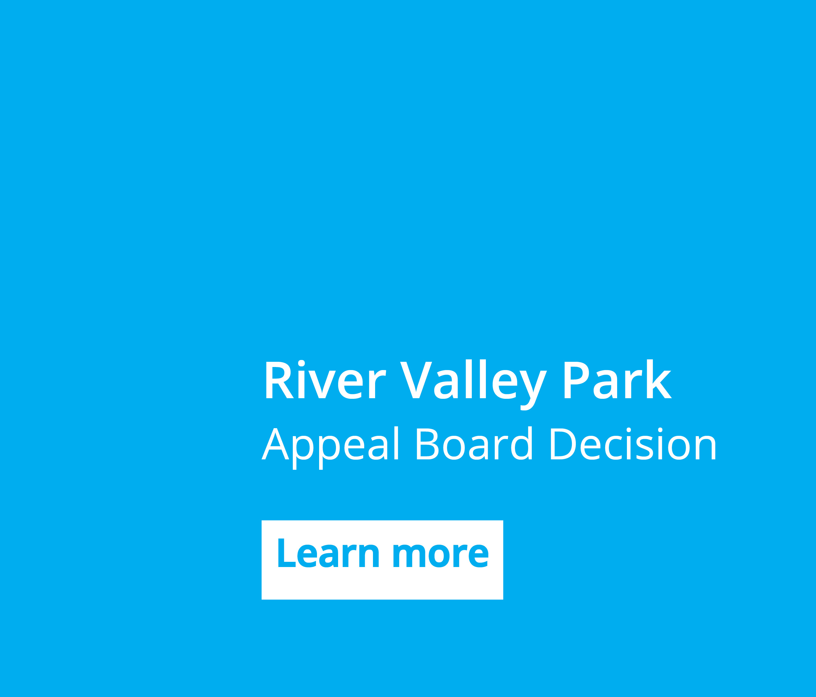 River Valley Park - Appeal Board Decision